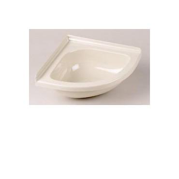 Mini Corner Basin For Caravan Or Camper Van - Ivory