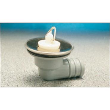 "Sink/Basin Angle Stainless Waste & Plug - 3/4"""