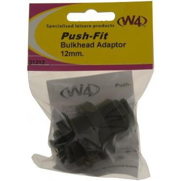 W4 Push-Fit Bulkhead Connector 12mm