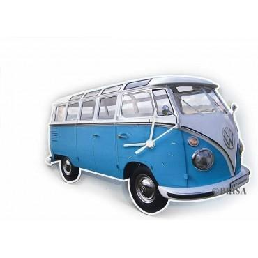 Volkswagon T1 Wall Clock  - Classic Blue