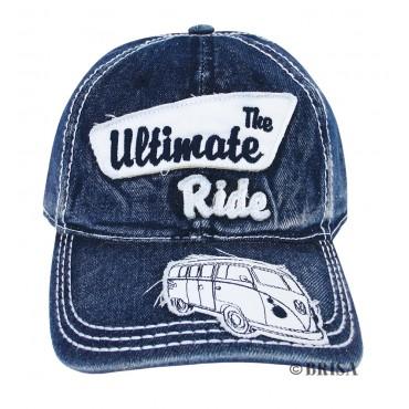 Volkswagen T1 Campervan Hippie Bus Vintage Cap - Blue