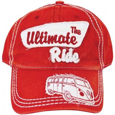 Volkswagen T1 Campervan Hippie Bus Vintage Cap - Red