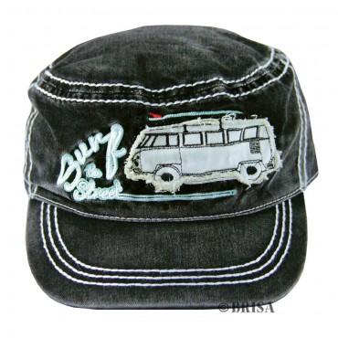 Volkswagen T1 Campervan Hippie Bus Vintage Cap - Black
