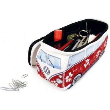 Volkswagen VW T1 Campervan Bus Neoprene Bag - Red - Small