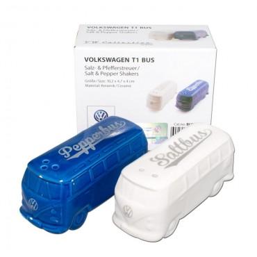 Ceramic Salt and Pepper Shakers - Volkswagen VW T1 Campervan Bus