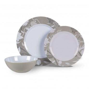 Picnic / Melamine 12 piece Dinner Set - Bloom