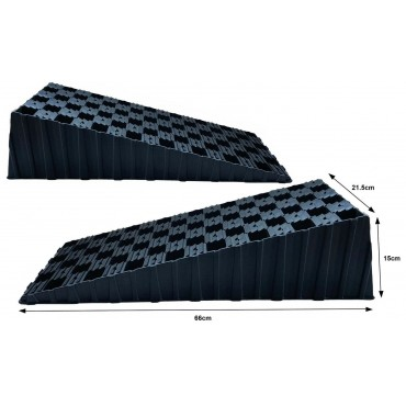 Milenco MGI Wedge XL - Pair of Level Ramps