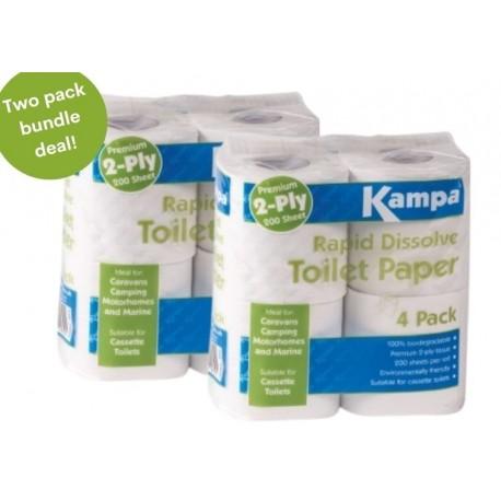 Rapid Dissolve Toilet Paper 8 Roll Bundle Deal!