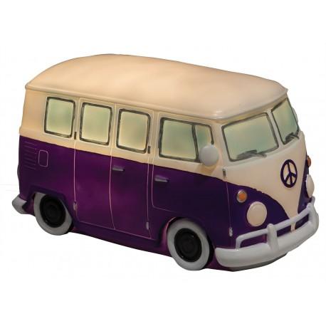 Led Campervan Night Light / Lamp - Purple Bus Design
