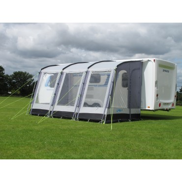 2022 Dometic Rally 390 Lightweight Caravan Porch Awning - Pearl Grey