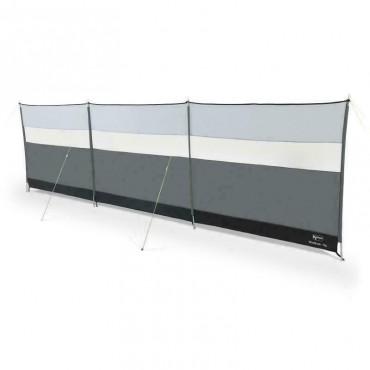 Kampa Viewing Windbreak - 500 x 140cm - Steel Sectional Poles - Fog Grey