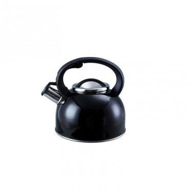 2.5  Whistling Kettle - Large 2.5 Litre Capacity - Black