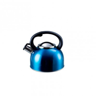 2.5  Whistling Kettle - Large 2.5 Litre Capacity - Blue