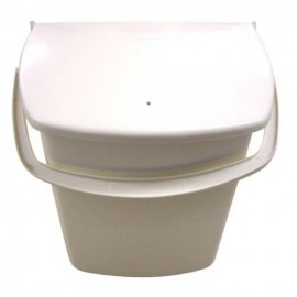 Cupboard Door Bin With String Pull Lid - Beige