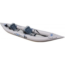 Aqua Marina K0 Inflatable 2 Person Kayak with Paddle, Pump & Carry Bag!