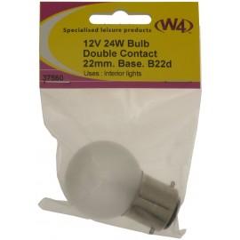 Bulb 12V 24W . 22mm Diameter base