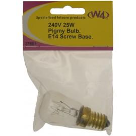 Bulb 240V 25W Pigmy - 14mm - Screw