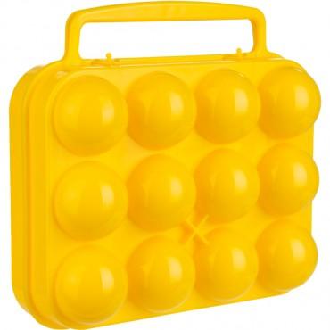 Caravan Camping Plastic 12 Egg Carrier / Holder / Box