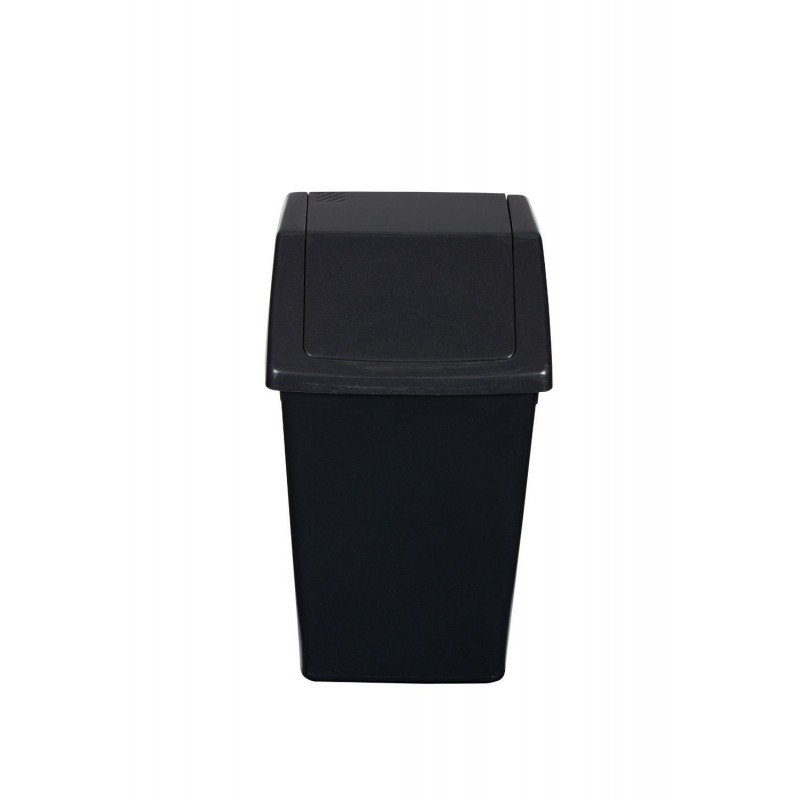 Compact 10ltr swing top kitchen bathroom waste bin for Charcoal bathroom accessories