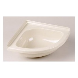 "Corner Basin For Caravan - Mini 11"" X 11"" - Ivory"