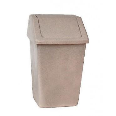 Compact 10ltr Swing Top Kitchen / Bathroom Waste Bin - Oatmeal