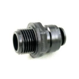 "W4 Push-Fit Straight Adaptor 1/2"" BSP -12mm"