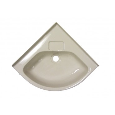 New Small Corner Basin For Caravan Or Camper - Ivory