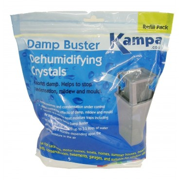 Kampa Damp Buster Caravan Moisture Trap Dehumidifier Crystals - 2.5kg